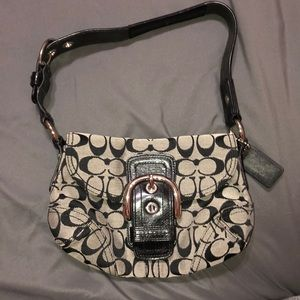 Black and Grey small Coach shoulder bag/ purse